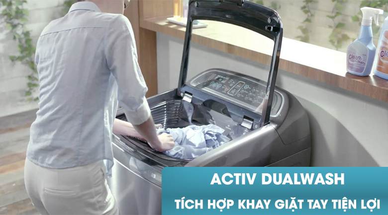 Khay giặt tay - Máy giặt Samsung Inverter 10.5 kg WA10J5750SG/SV