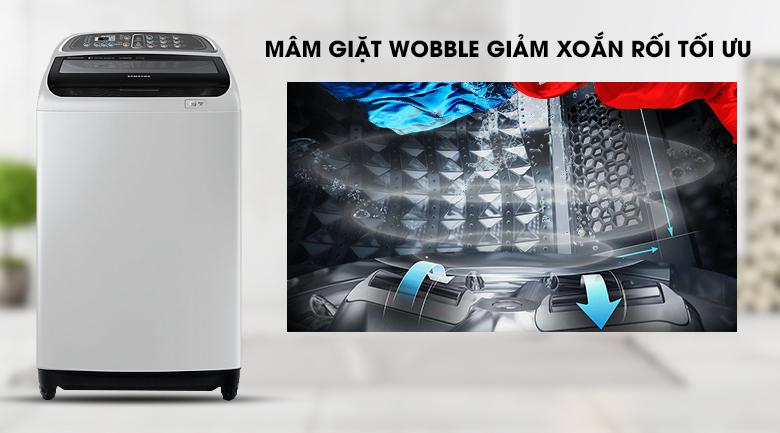 Mâm giặt Wobble - Máy giặt Samsung Inverter 10.5 kg WA10J5750SG/SV