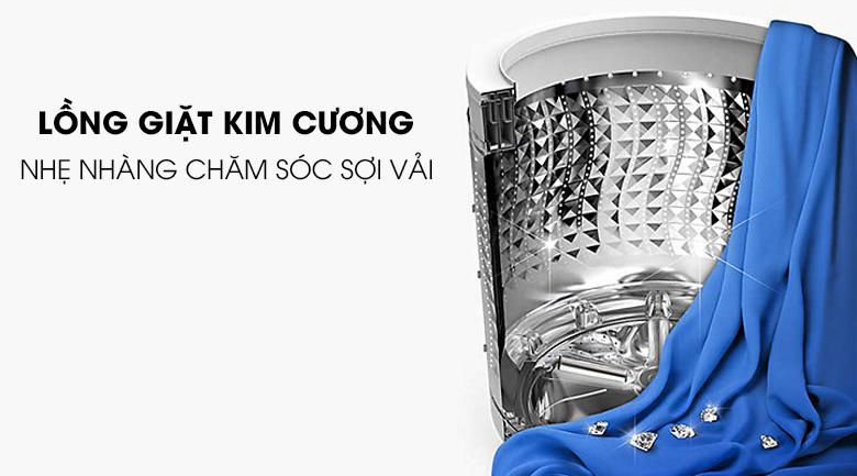 Lồng giặt kim cương - Máy giặt Samsung Inverter 10.5 kg WA10J5750SG/SV