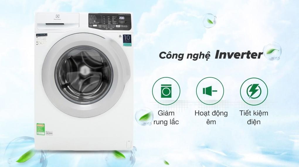 Khối lượng giặt 8 kg - Máy giặt Electrolux Inverter 8 kg EWF8025CQWA