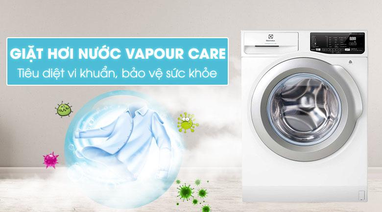 Giặt hơi nước - Máy giặt Electrolux Inverter 8 kg EWF8025CQWA