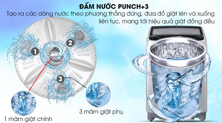 Công nghệ đấm nước Punch+3 - Máy giặt LG Inverter 9 Kg T2309VS2M