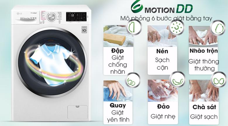 Công nghệ 6 chuyển động - Máy giặt LG Inverter 8 Kg FC1408S4W3