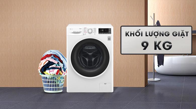 Khối lượng giặt 9 kg - Máy giặt LG Inverter 9 kg FC1409S3W1