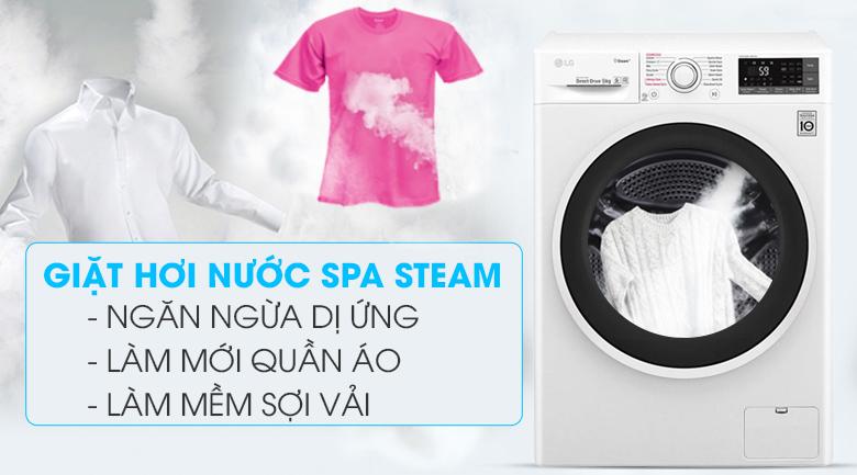 Giặt hơi nước SpaSteam - Máy giặt LG Inverter 9 kg FC1409S3W1
