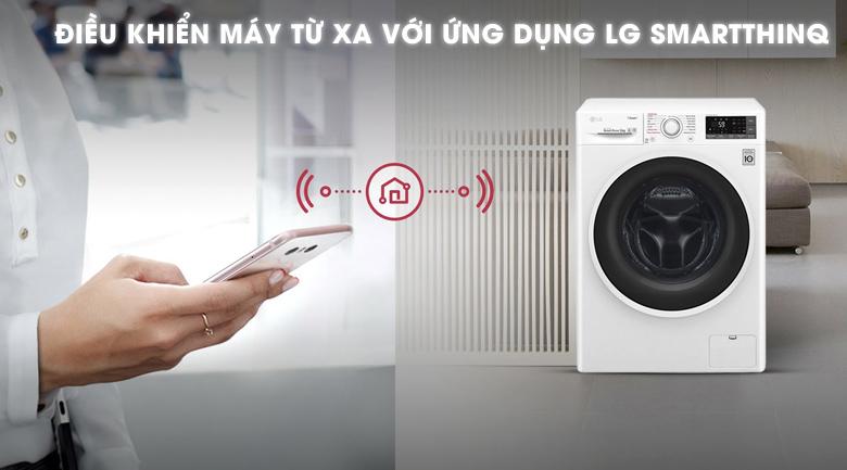 Điều khiển bằng điện thoại - Máy giặt LG Inverter 9 kg FC1409S3W1