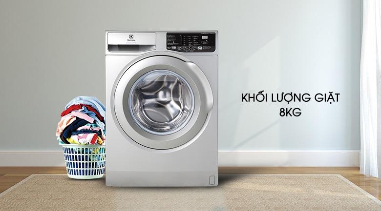 Khối lượng giặt 8 kg - Máy giặt Electrolux Inverter 8 kg EWF8025CQSA