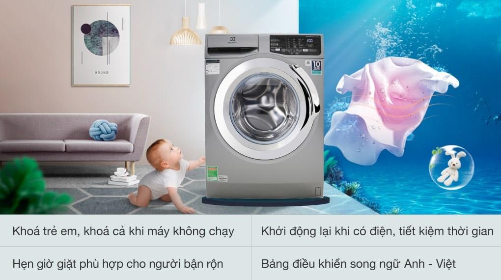 Chế độ giặt đồ len - Máy giặt Electrolux Inverter 9 Kg EWF9025BQSA