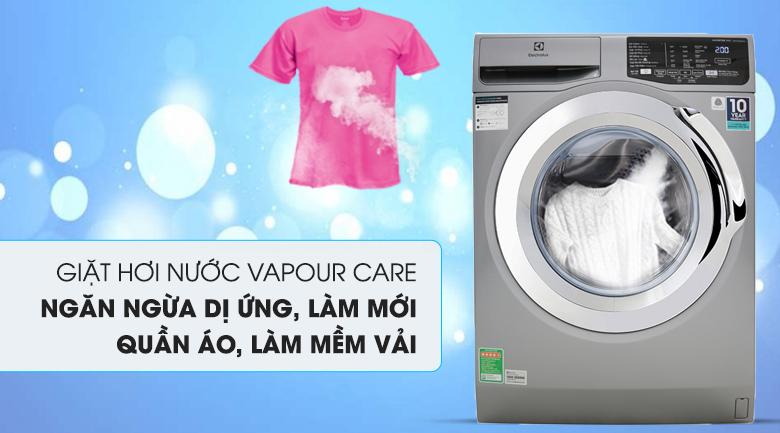 Máy giặt Electrolux Inverter 9 Kg EWF9025BQSA - Công nghệ giặt hơi nước