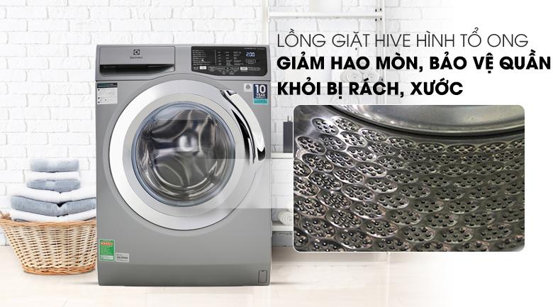 Máy giặt Electrolux Inverter 9 Kg EWF9025BQSA - Lồng giặt Hive tổ ong