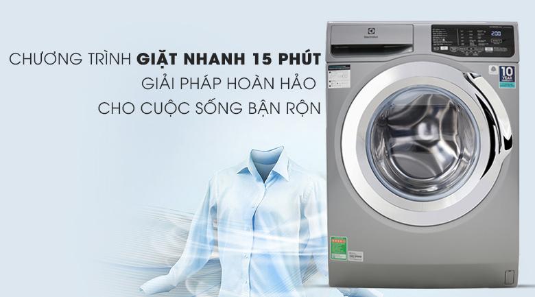 Máy giặt Electrolux Inverter 9 Kg EWF9025BQSA - Chương trình giặt nhanh 15 phút