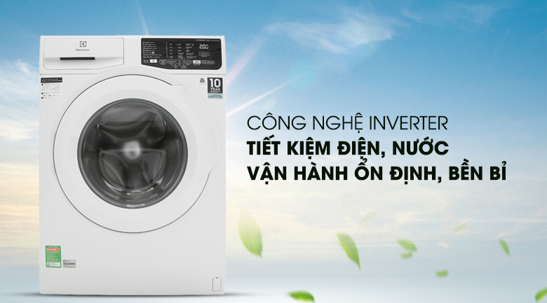 Động cơ Inverter - Máy giặt Electrolux Inverter 7.5 Kg EWF7525DQWA