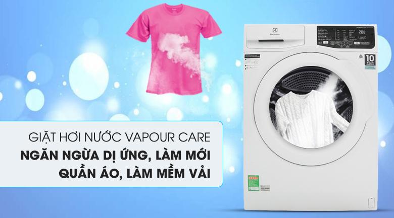 Giặt hơi nước Vapour Care - Máy giặt Electrolux Inverter 7.5 Kg EWF7525DQWA