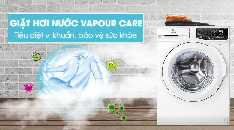 Giặt hơi nước - Máy giặt Electrolux Inverter 7.5 Kg EWF7525DQWA