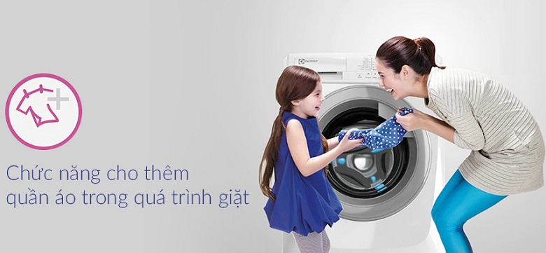 Add Cloths - Máy giặt Electrolux Inverter 7.5 Kg EWF7525DQWA