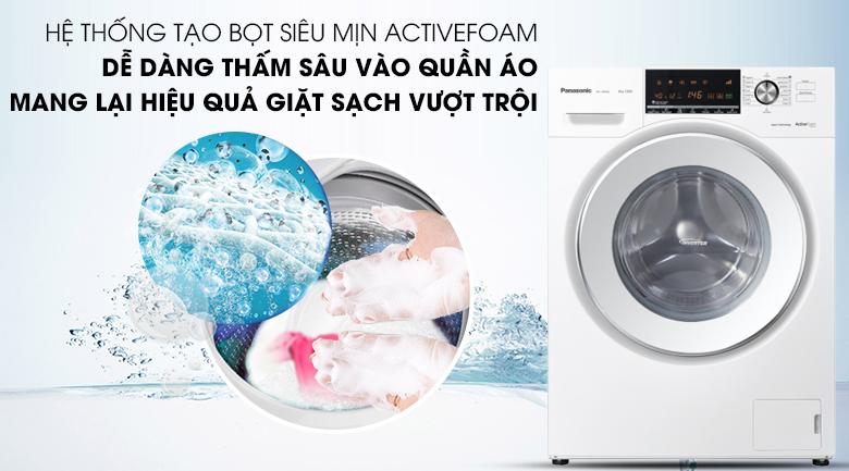 Hệ thống ActiveFoam - Máy giặt Panasonic Inverter 8 Kg NA-128VG6WV2