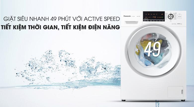 Chế độ giặt Active Speed - Máy giặt Panasonic Inverter 8 Kg NA-128VG6WV2