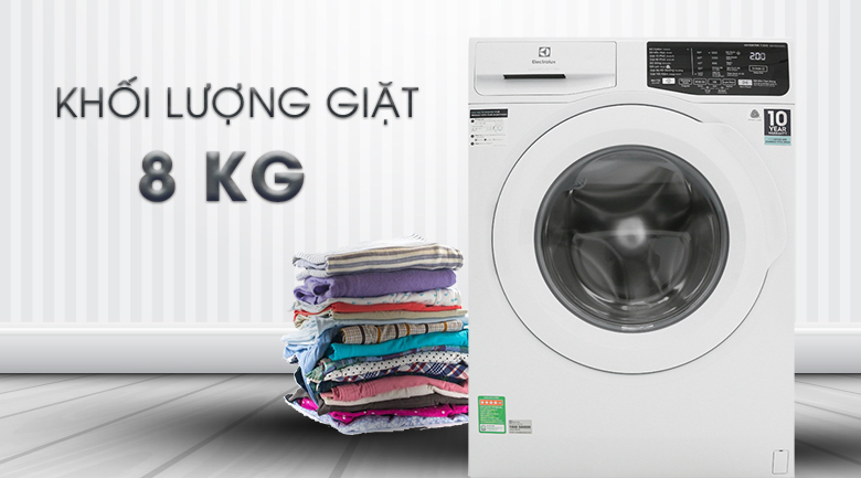 Khối lượng giặt 8 kg - Máy giặt Electrolux 8 Kg EWF8025EQWA