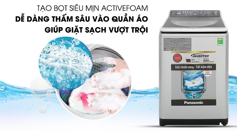 Active Foam - Máy giặt Panasonic Inverter 11.5 Kg NA-FS11V7LRV