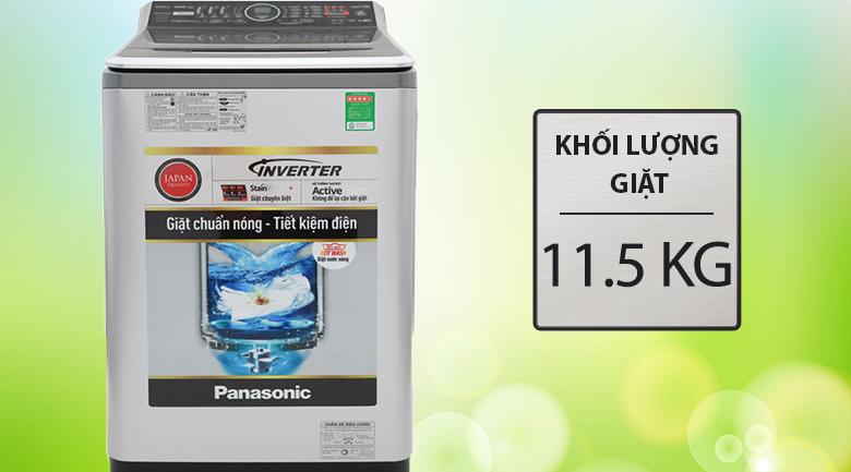 Khối lượng giặt 11.5 kg - Máy giặt Panasonic Inverter 11.5 Kg NA-FS11V7LRV