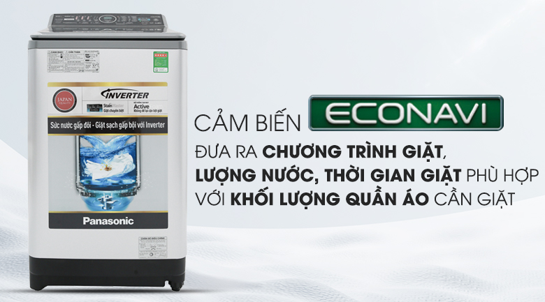 Cảm biến Econavi - Máy giặt Panasonic Inverter 9.5 Kg NA-FS95X7LRV