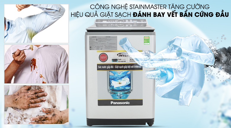 Công nghệ giặt StainMaster - Máy giặt Panasonic Inverter 12.5 Kg NA-FS12X7LRV