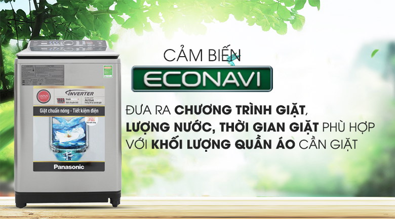 Cảm biến Econavi - Máy giặt Panasonic Inverter 13.5 Kg NA-FS13V7SRV