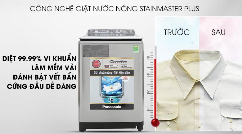 Công nghệ giặt nước nóng StainMaster Plus - Máy giặt Panasonic Inverter 13.5 Kg NA-FS13V7SRV