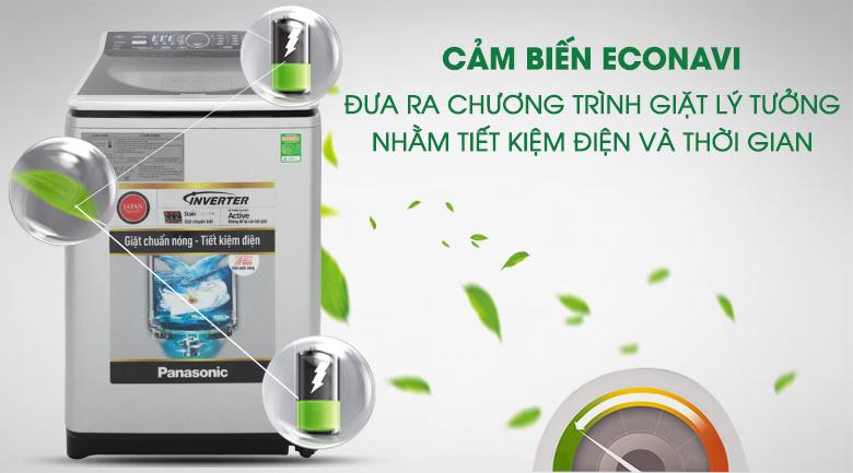 Cảm biến Econavi - Máy giặt Panasonic Inverter 14 Kg NA-FS14V7SRV