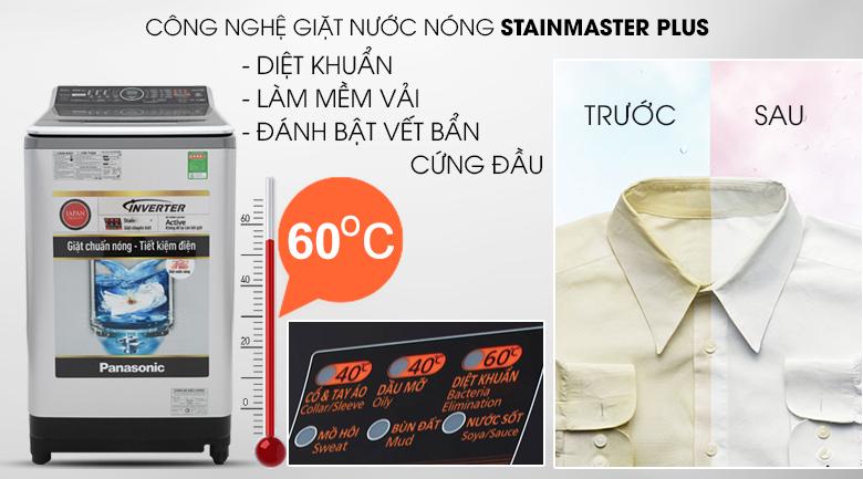 Giặt nước nóng - Máy giặt Panasonic Inverter 14 Kg NA-FS14V7SRV