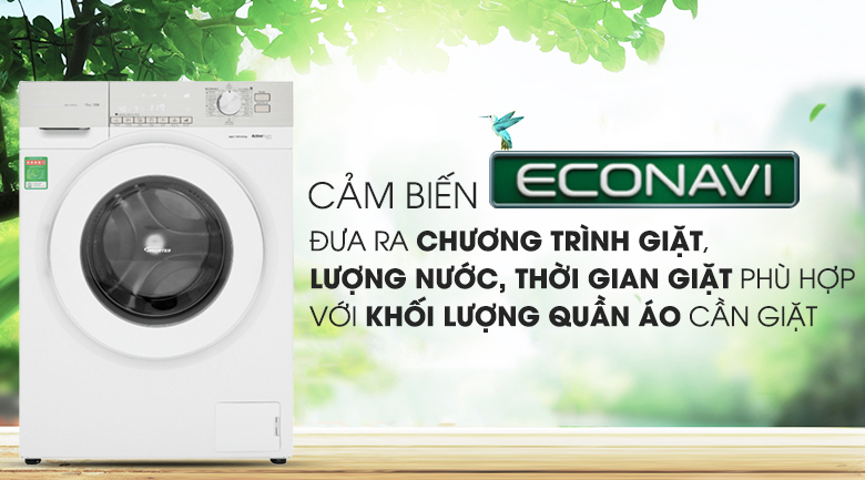 Cảm biến Econavi - Máy giặt Panasonic Inverter 10 Kg NA-120VG6WV2