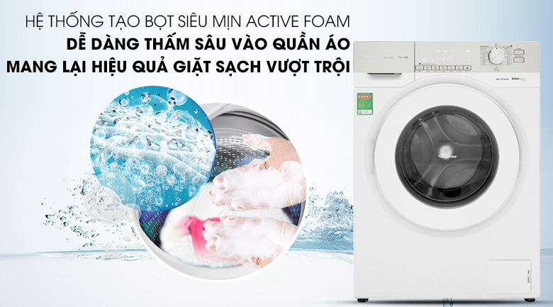 Hệ thống ActiveFoam - Máy giặt Panasonic Inverter 10 Kg NA-120VG6WV2