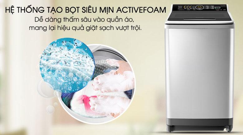 Active Foam - Máy giặt Panasonic Inverter 10 Kg NA-FS10X7SRV
