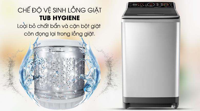 Vệ sinh lồng giặt tự động - Máy giặt Panasonic Inverter 10 Kg NA-FS10X7SRV
