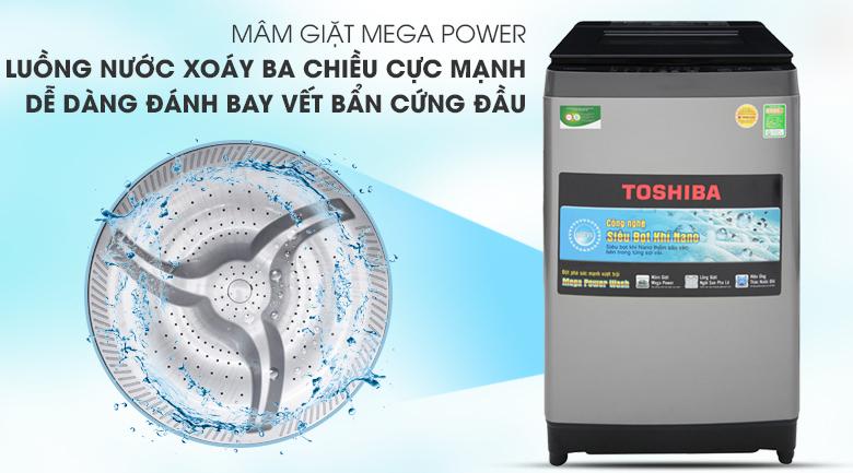 Mâm giặt 3 cánh Mega Power - Máy giặt Toshiba 9.5 Kg AW-UH1050GV DS