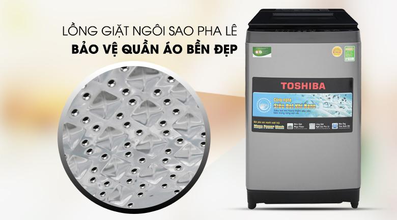 Lồng giặt ngôi sao pha lê - Máy giặt Toshiba 9.5 Kg AW-UH1050GV DS