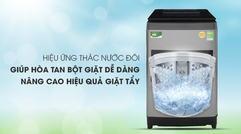 Hiệu ứng thác nước đôi - Máy giặt Toshiba 10.5 Kg AW-UH1150GV DS