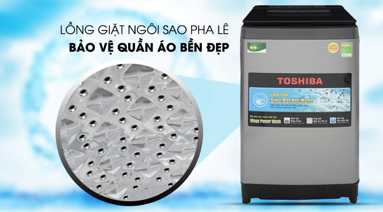 Lồng giặt ngôi sao pha lê - Máy giặt Toshiba 10.5 Kg AW-UH1150GV DS