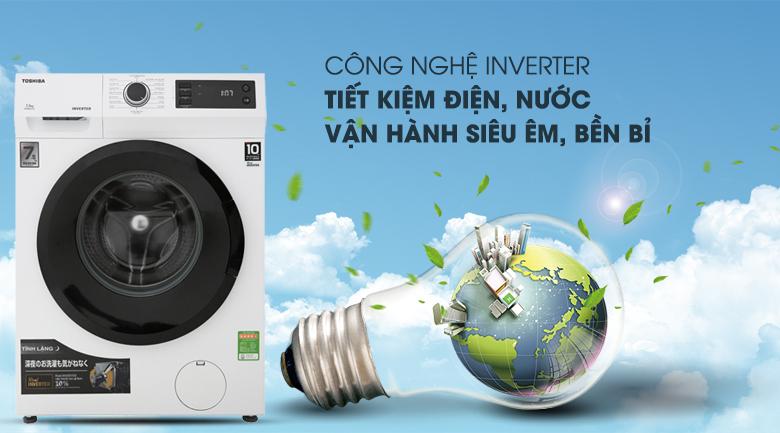 Real Inverter - Máy giặt Toshiba Inverter 7.5 Kg TW-BH85S2V WK