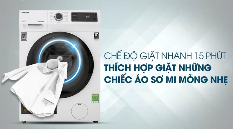 Giặt nhanh 15 phút - Máy giặt Toshiba Inverter 7.5 Kg TW-BH85S2V WK