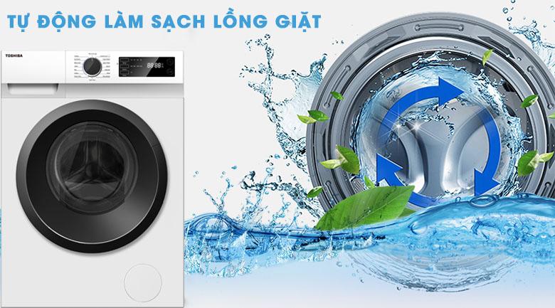 Vệ sinh lồng giặt - Máy giặt Toshiba Inverter 7.5 Kg TW-BH85S2V WK