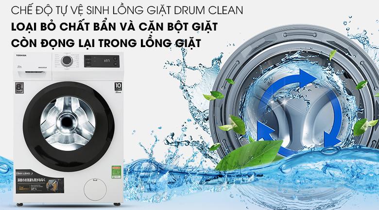 Vệ sinh lồng giặt - Máy giặt Toshiba Inverter 8.5 Kg TW-BH95S2V WK