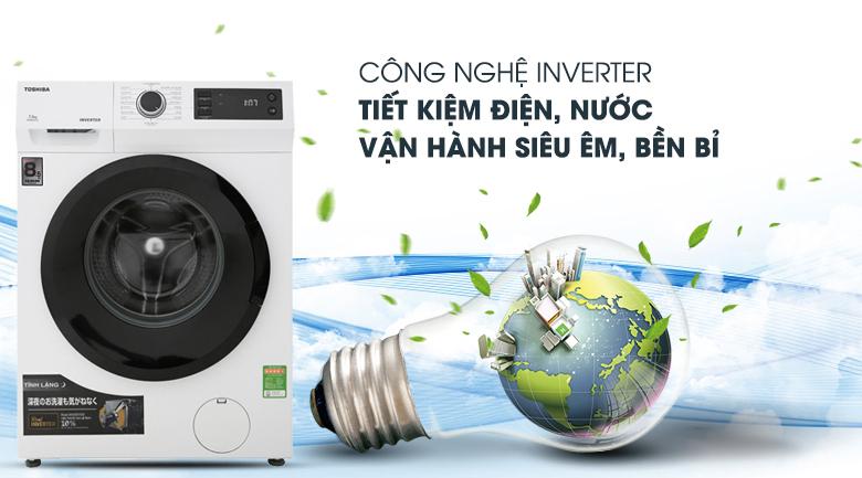 Máy giặt Toshiba Inverter 8.5 Kg TW-BH95S2V WK - Real Inverter