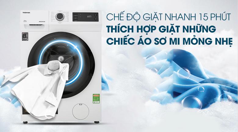 Máy giặt Toshiba Inverter 8.5 Kg TW-BH95S2V WK - Giặt nhanh 15 phút