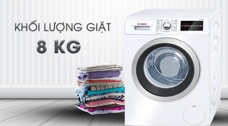 Khối lượng giặt 8 kg - Máy giặt Bosch Inverter 8 Kg WAT24480SG