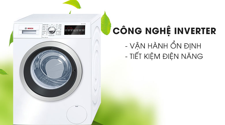 Công nghệ Inverter - Máy giặt Bosch Inverter 8 Kg WAT24480SG