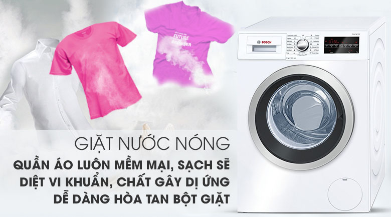 Giặt nước nóng - Máy giặt Bosch Inverter 8 Kg WAT24480SG
