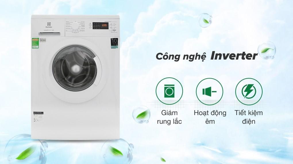 Giặt nước nóng - Máy giặt Electrolux Inverter 8 Kg EWF8025DGWA