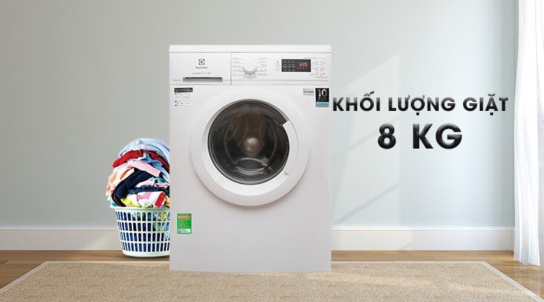 Khối lượng giặt 8 Kg - Máy giặt Electrolux Inverter 8 Kg EWF8025DGWA