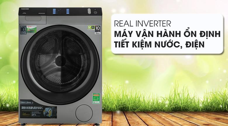 Máy giặt Toshiba Inverter 10.5 Kg TW-BH115W4V (SK) - Real Inverter